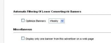 Automatic Filtering Of Lower Converting/ctr Banners